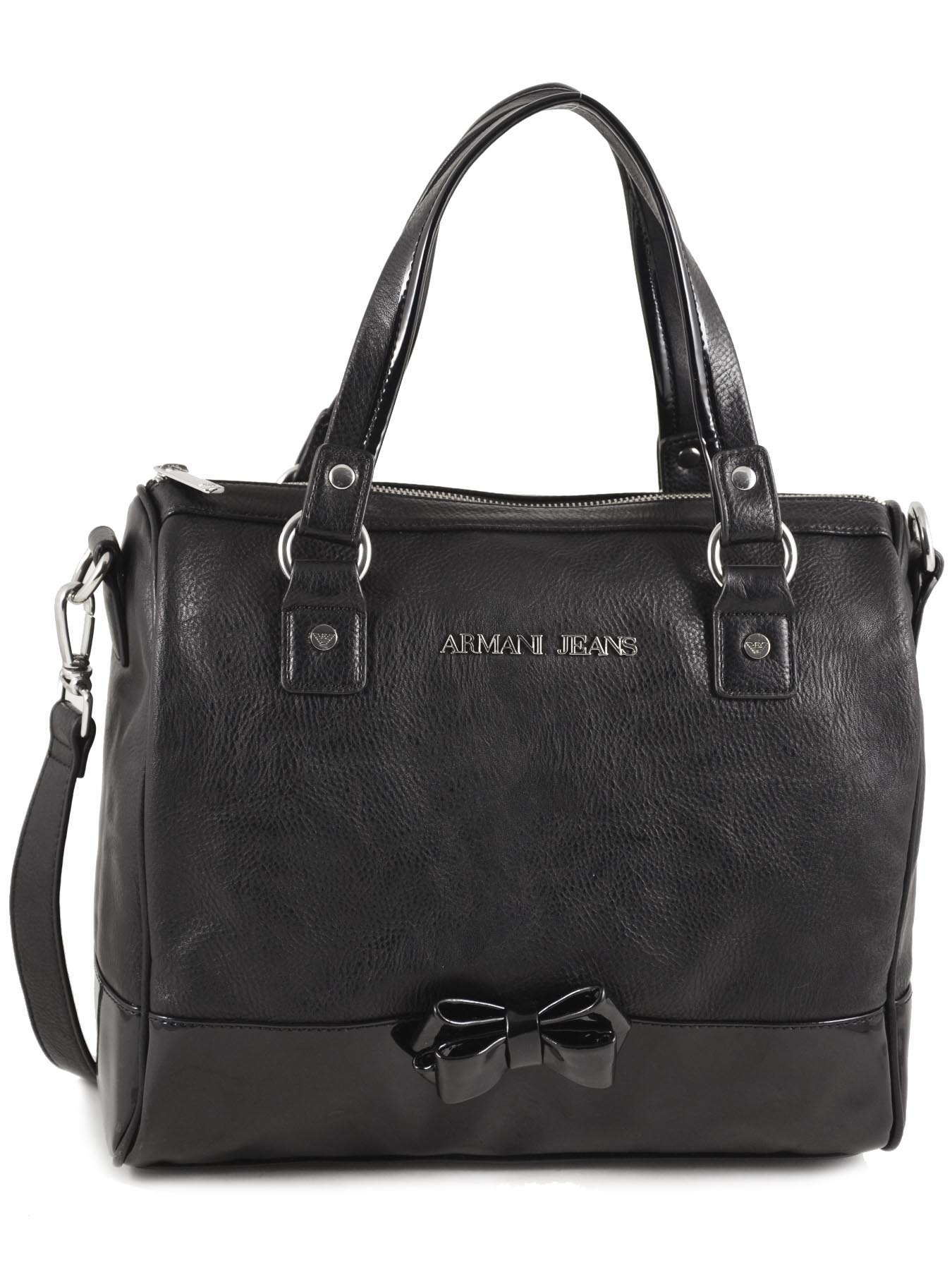 pin sac armani jeans verni noir femme 05291 55 12 go pics on pinterest. Black Bedroom Furniture Sets. Home Design Ideas